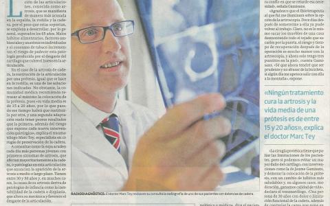 El Doctor Tey explica la cirugía de preservación de cadera a El Periódico